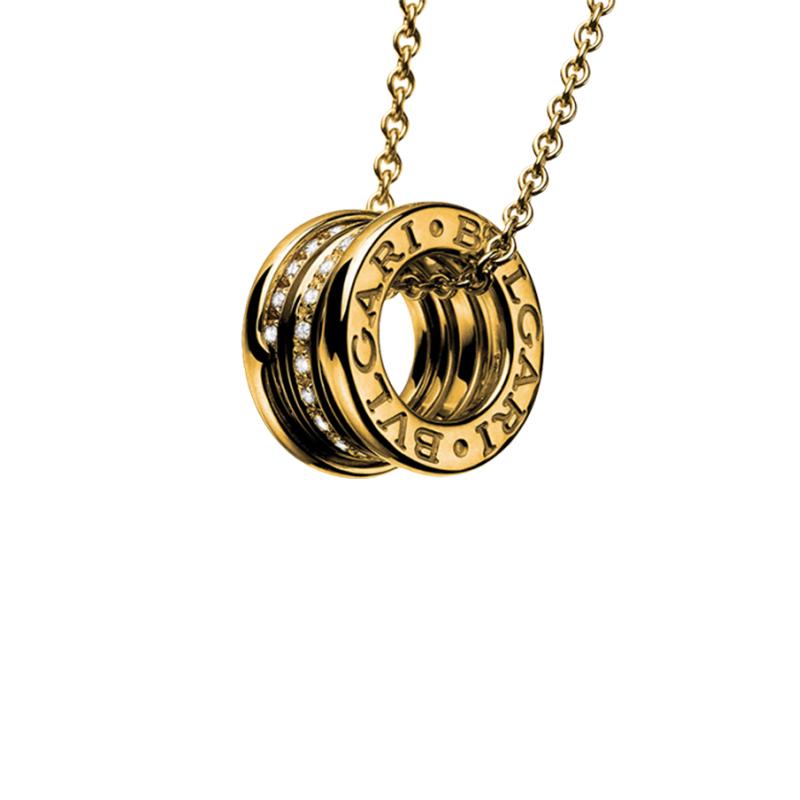 gioielliDonnaPendente Donna Bulgari B.zero1 oro giallo diamanti