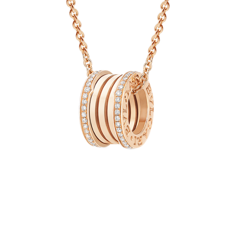gioielliDonnaPendente Donna Bulgari B.zero1 oro rosa diamante